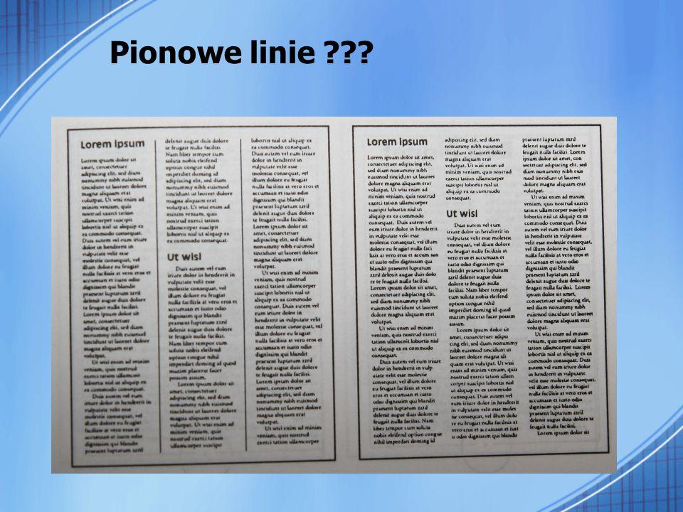 Pionowe linie