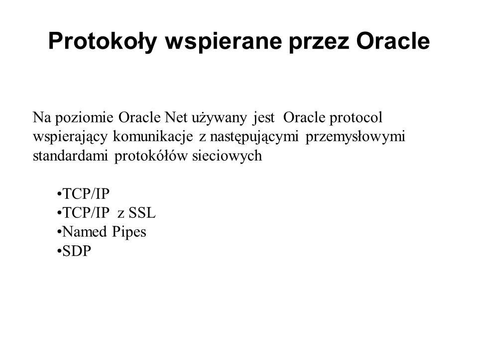 Protokoły wspierane przez Oracle