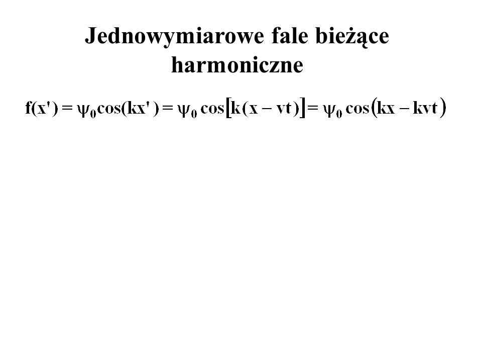 Jednowymiarowe fale bieżące harmoniczne