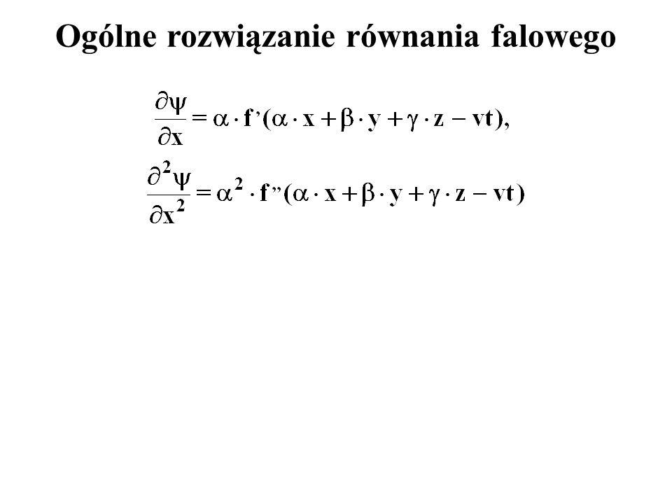 Ogólne rozwiązanie równania falowego