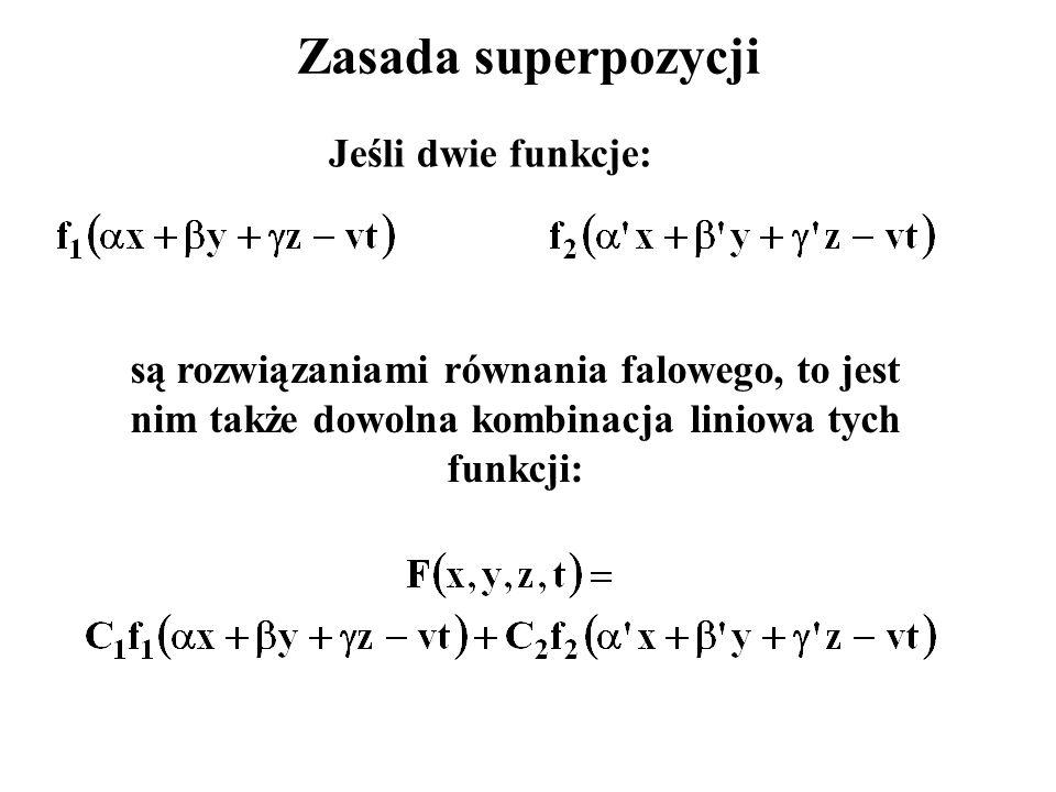 Zasada superpozycji Jeśli dwie funkcje: