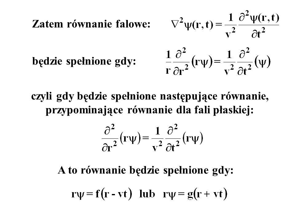 Zatem równanie falowe: