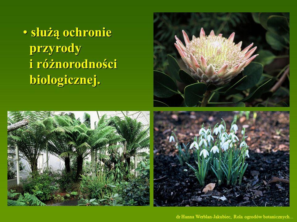 służą ochronie przyrody i różnorodności biologicznej.