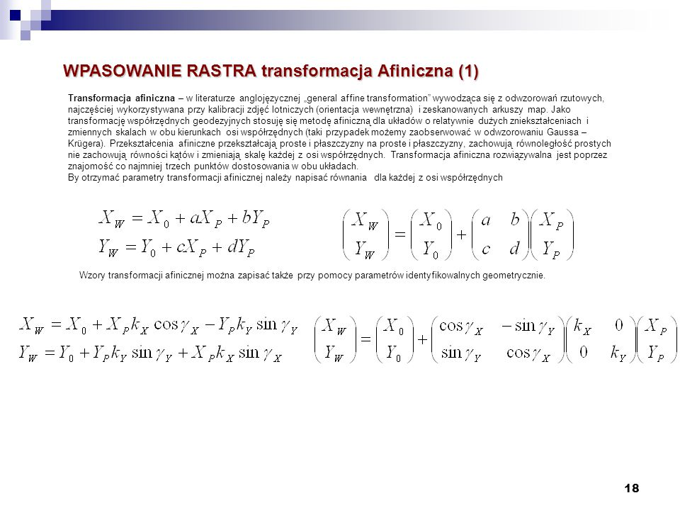 WPASOWANIE RASTRA transformacja Afiniczna (1)