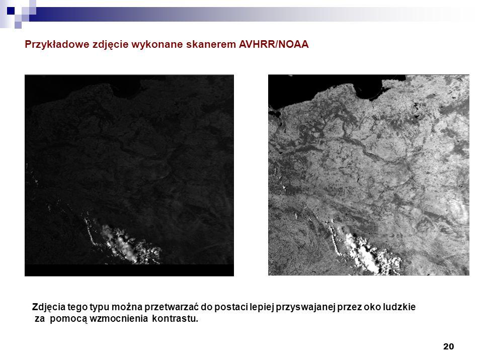 Przykładowe zdjęcie wykonane skanerem AVHRR/NOAA