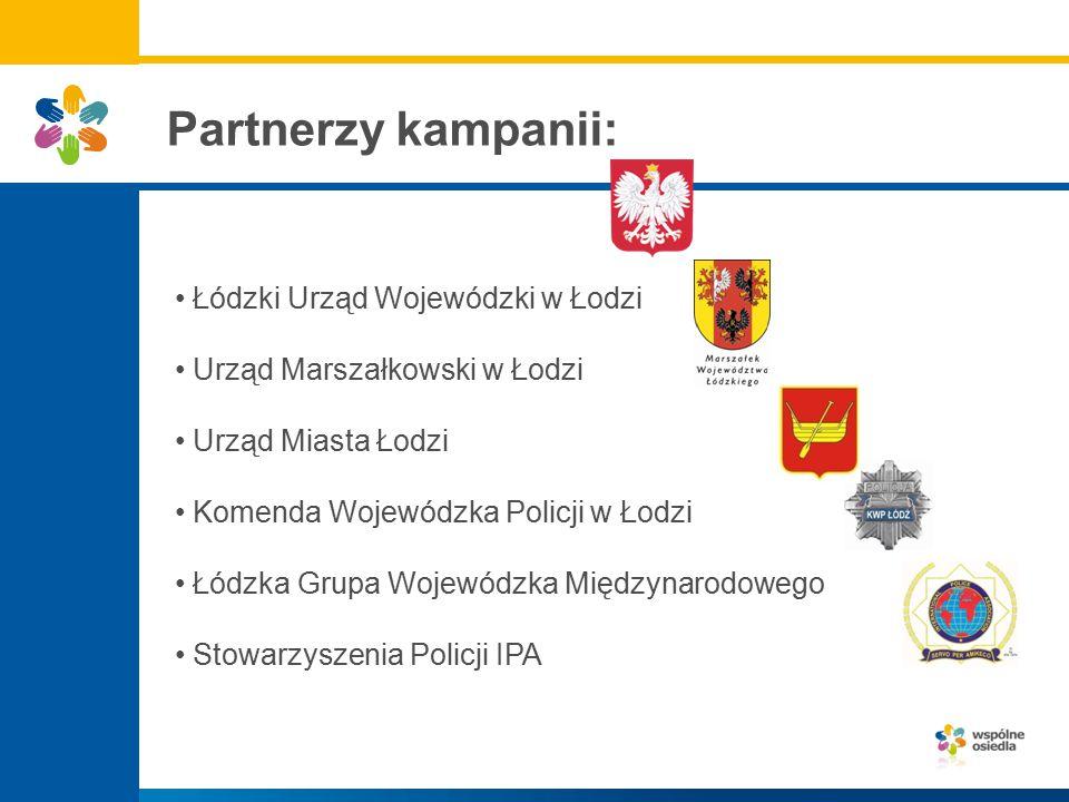 Partnerzy kampanii: Łódzki Urząd Wojewódzki w Łodzi