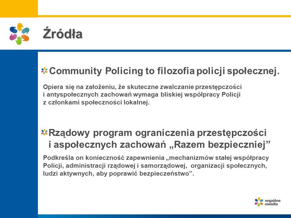 Źródła Rządowy program ograniczenia przestępczości