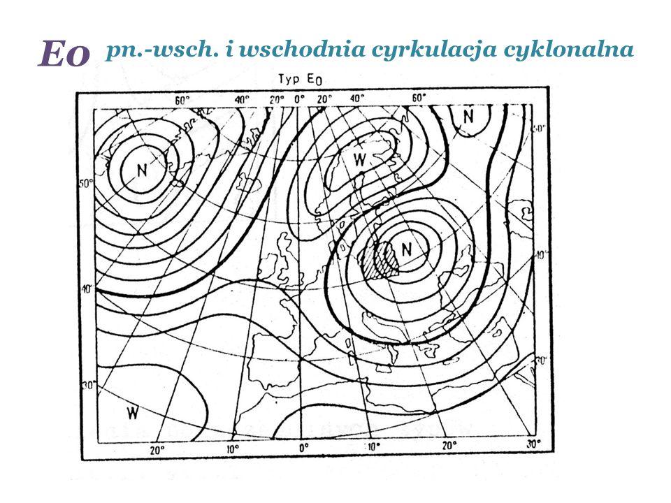 E0 pn.-wsch. i wschodnia cyrkulacja cyklonalna