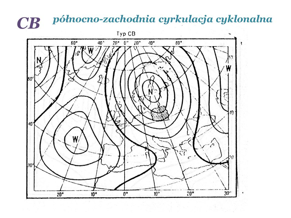 CB północno-zachodnia cyrkulacja cyklonalna