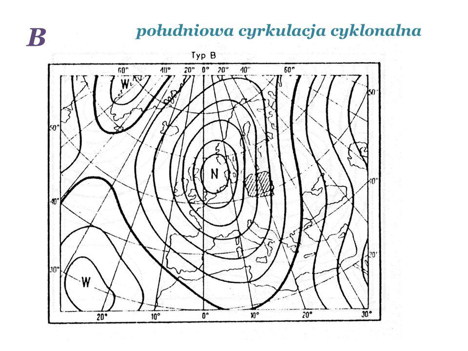 B południowa cyrkulacja cyklonalna