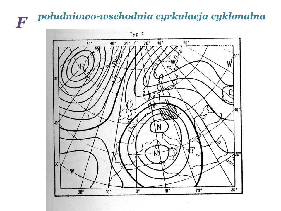 południowo-wschodnia cyrkulacja cyklonalna