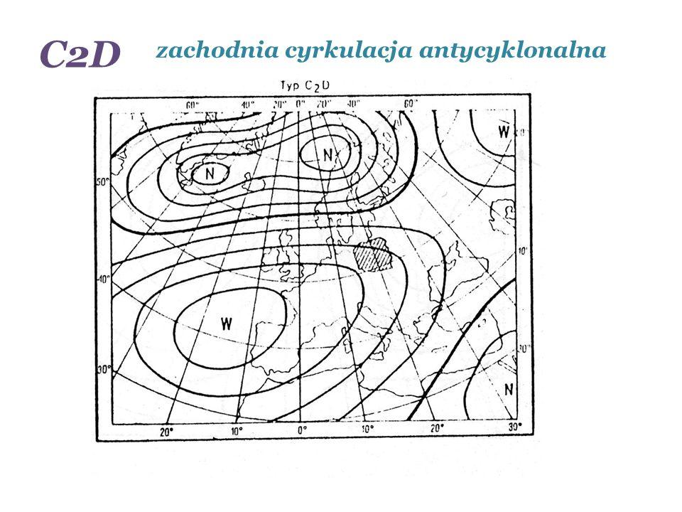 C2D zachodnia cyrkulacja antycyklonalna