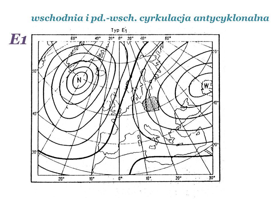 wschodnia i pd.-wsch. cyrkulacja antycyklonalna