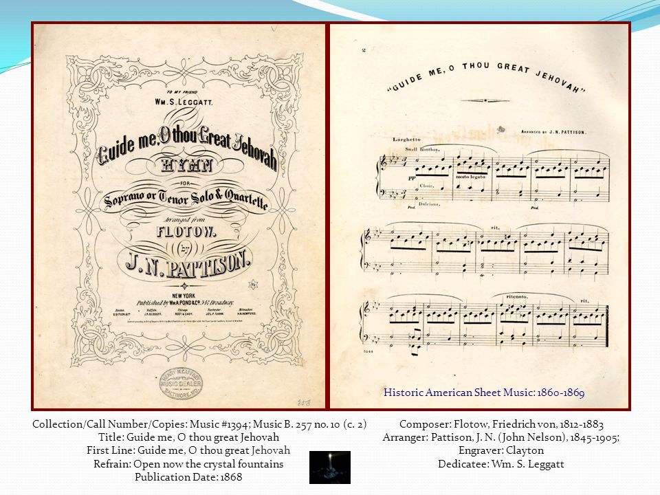 Historic American Sheet Music: 1860-1869