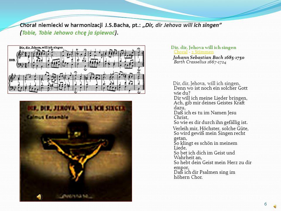 Chorał niemiecki w harmonizacji J. S. Bacha, pt