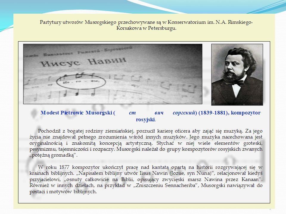 Musorgski – kompozytor rosyjski