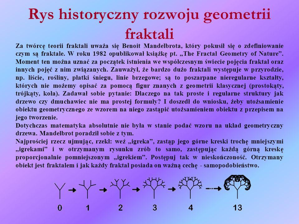 Rys historyczny rozwoju geometrii fraktali