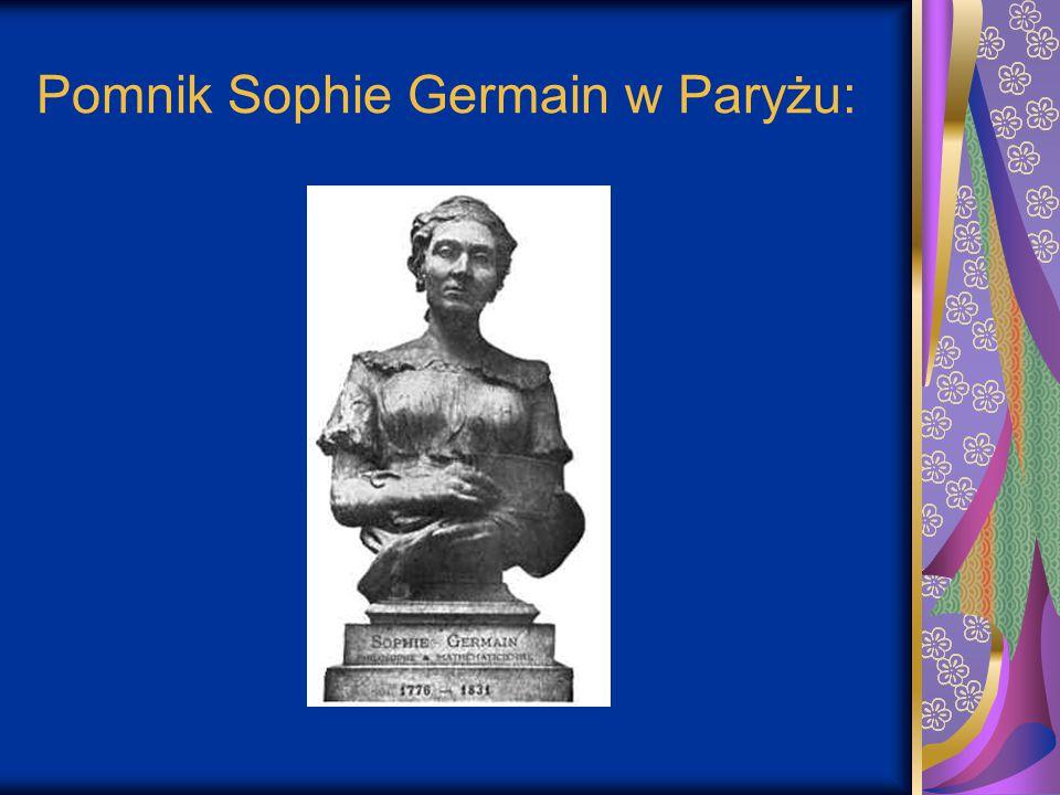 Pomnik Sophie Germain w Paryżu: