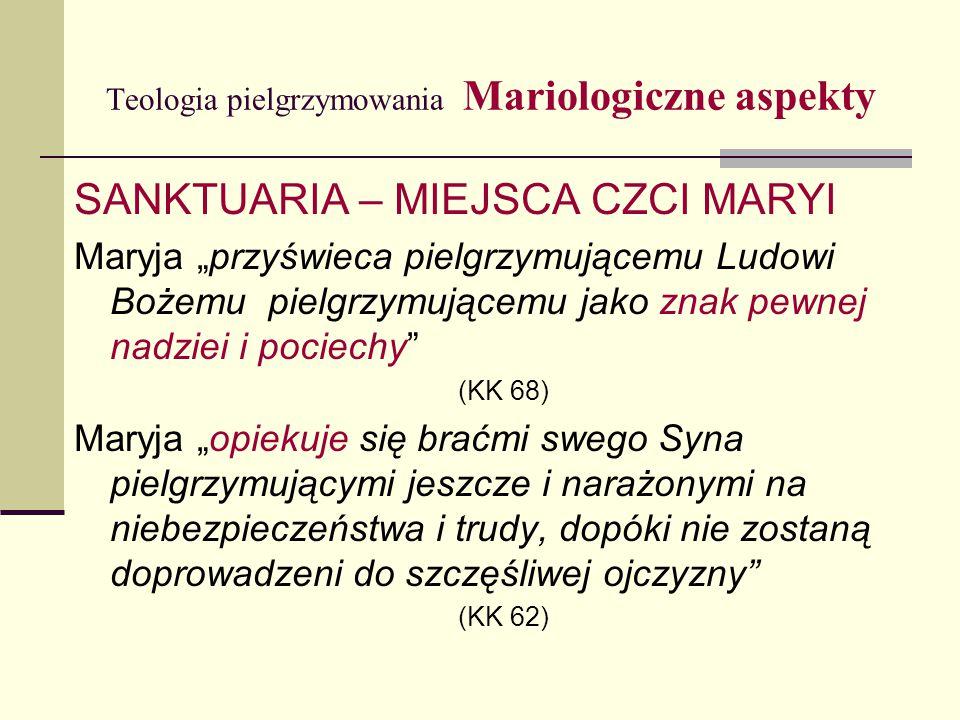 Teologia pielgrzymowania Mariologiczne aspekty