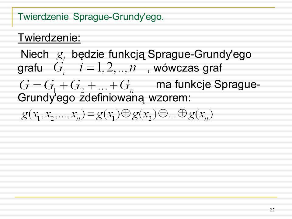 Twierdzenie Sprague-Grundy ego.