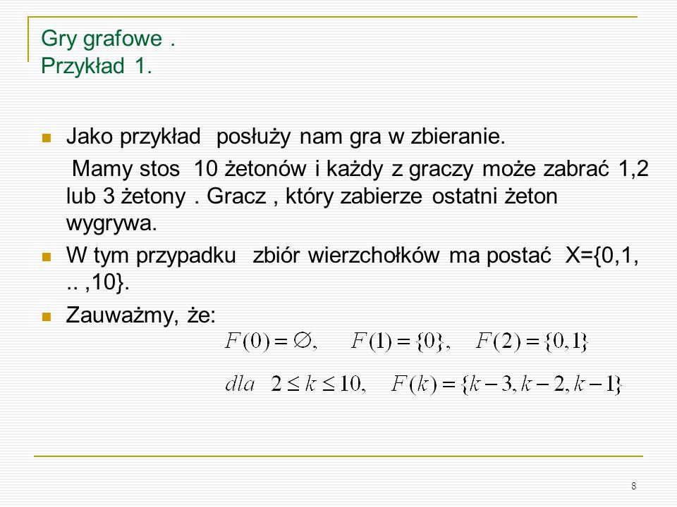 Gry grafowe . Przykład 1. Jako przykład posłuży nam gra w zbieranie.
