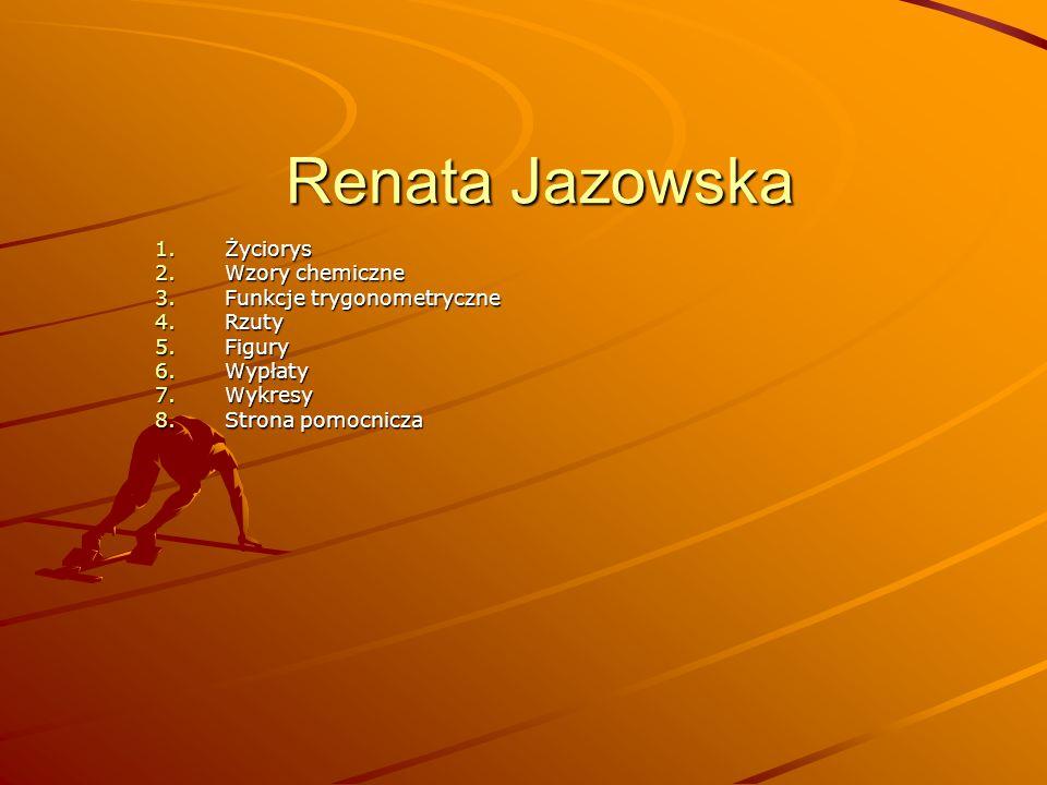 Renata Jazowska Życiorys Wzory chemiczne Funkcje trygonometryczne