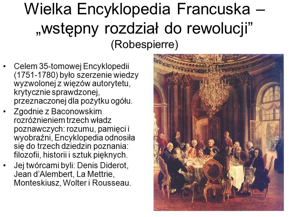 """Wielka Encyklopedia Francuska – """"wstępny rozdział do rewolucji (Robespierre)"""