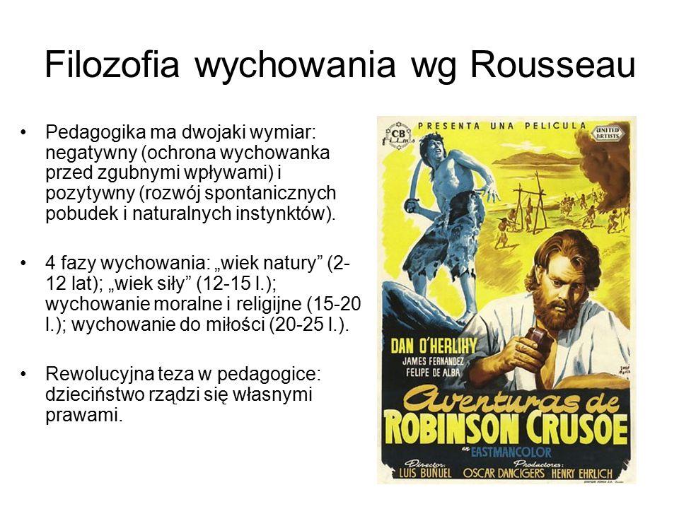 Filozofia wychowania wg Rousseau