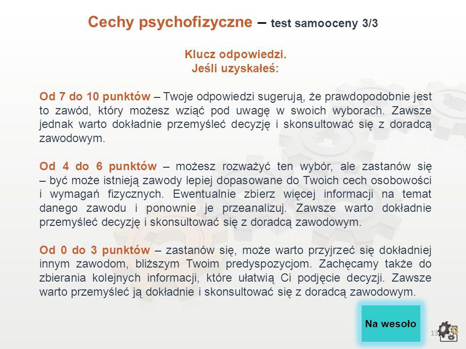 Cechy psychofizyczne – test samooceny 3/3