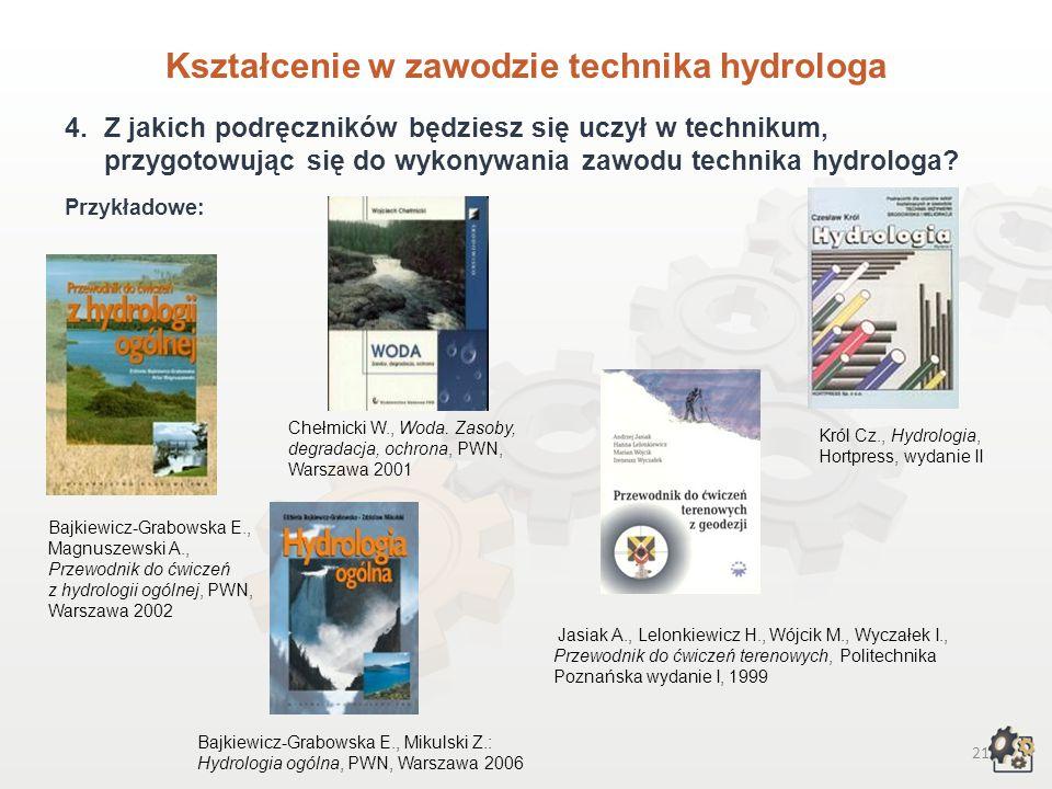 Kształcenie w zawodzie technika hydrologa