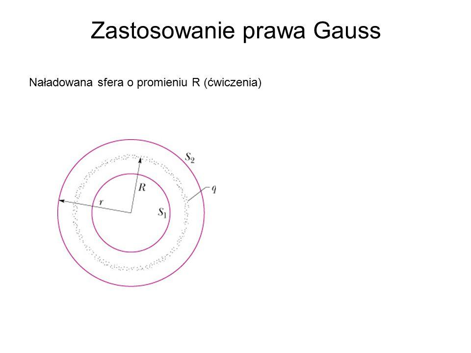 Zastosowanie prawa Gauss