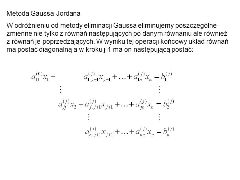 Metoda Gaussa-Jordana