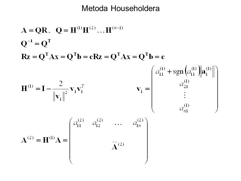 Metoda Householdera