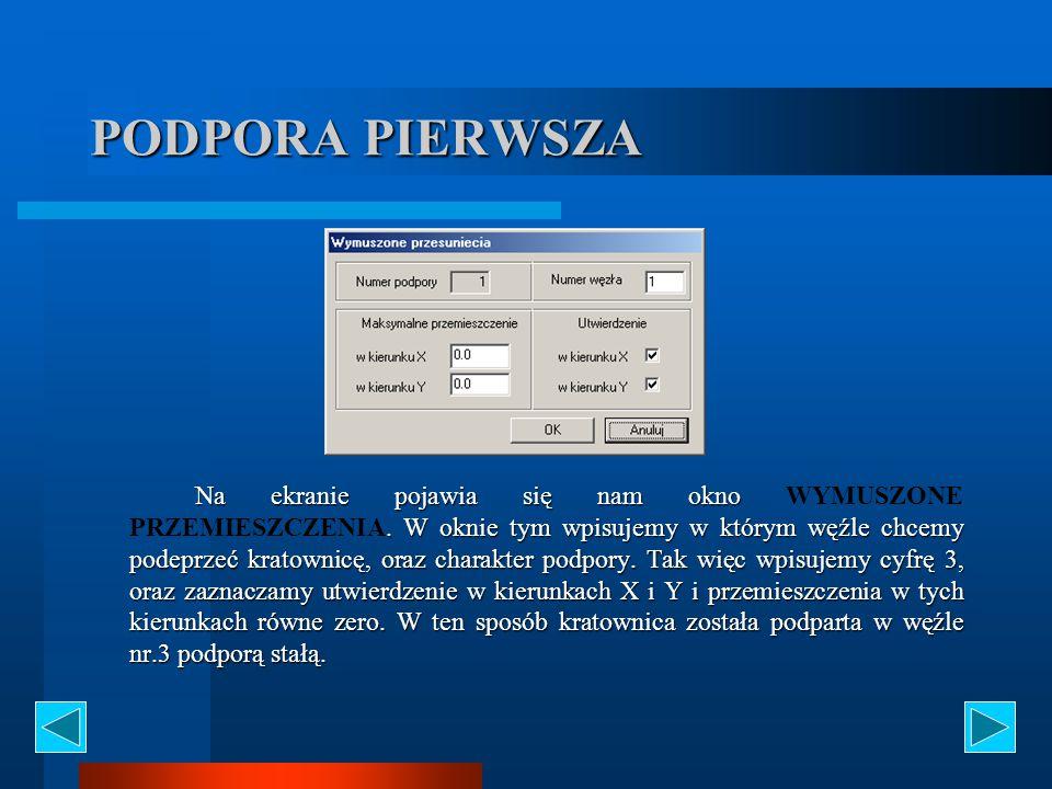 PODPORA PIERWSZA