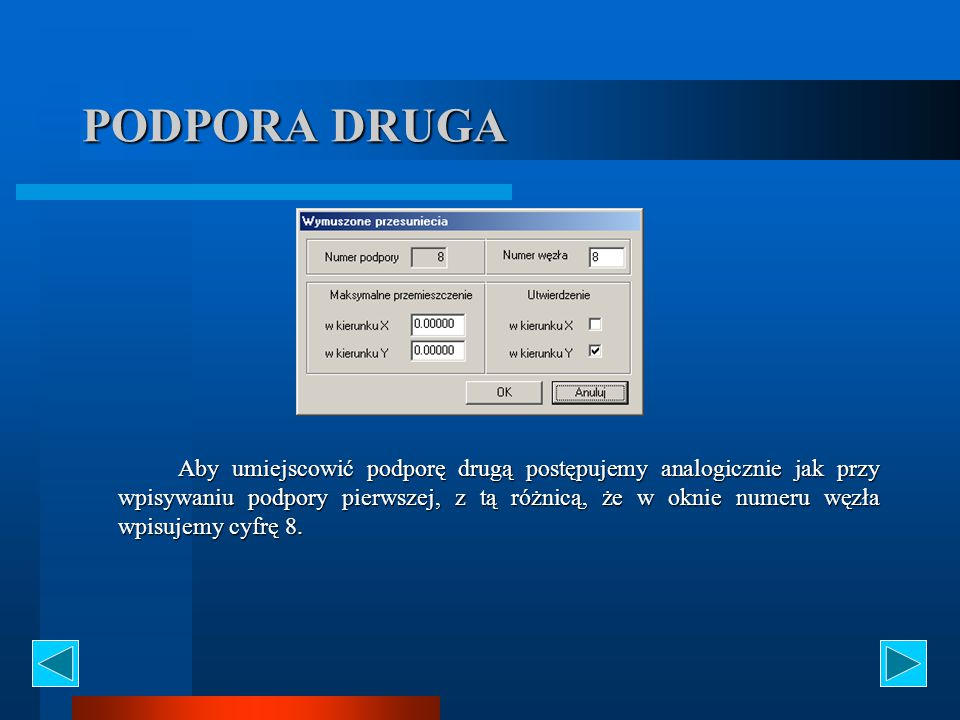 PODPORA DRUGA