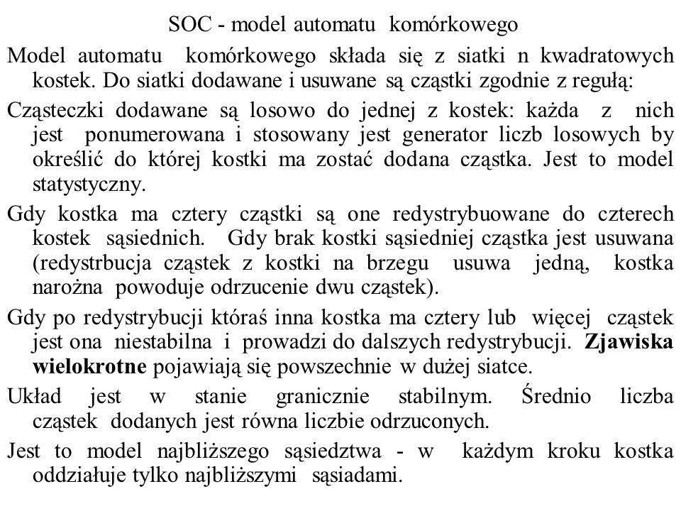 SOC - model automatu komórkowego