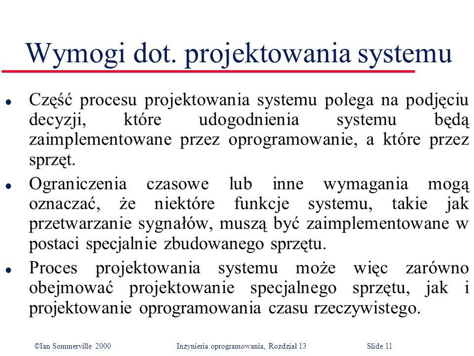 Wymogi dot. projektowania systemu