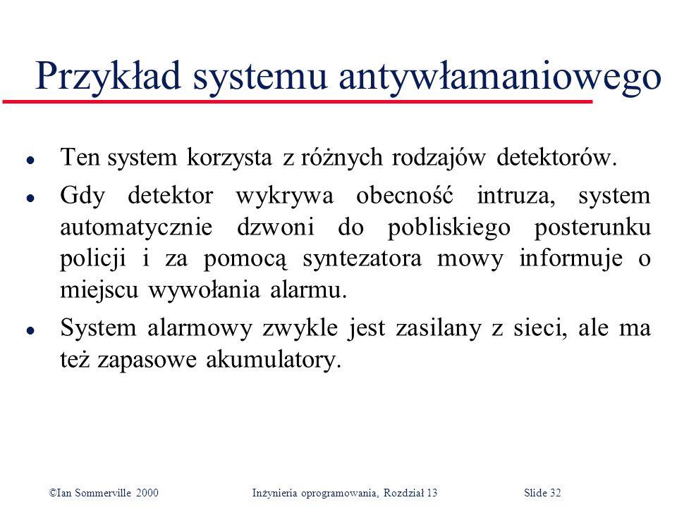 Przykład systemu antywłamaniowego