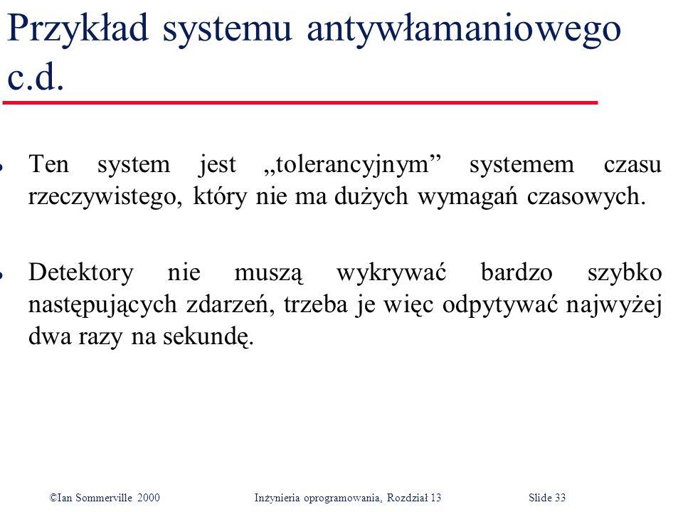 Przykład systemu antywłamaniowego c.d.