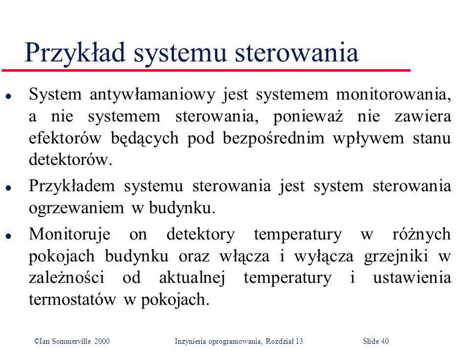 Przykład systemu sterowania