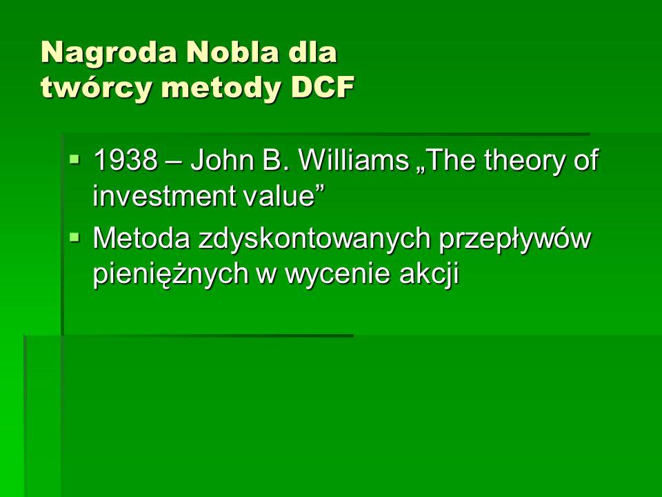 Nagroda Nobla dla twórcy metody DCF