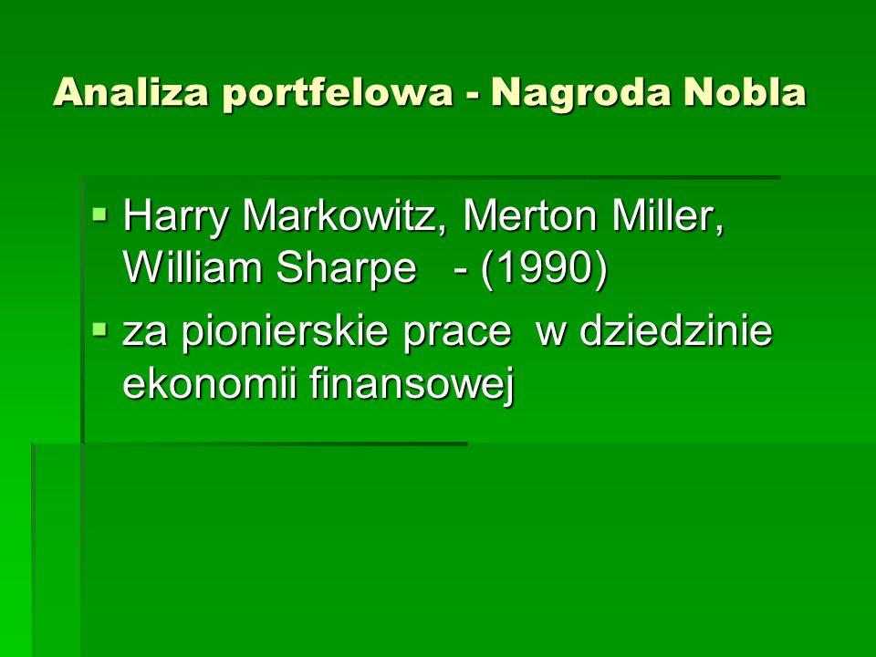 Analiza portfelowa - Nagroda Nobla