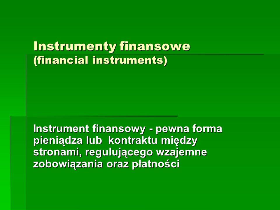 Instrumenty finansowe (financial instruments)