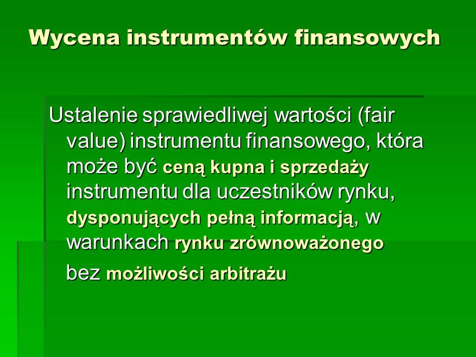Wycena instrumentów finansowych
