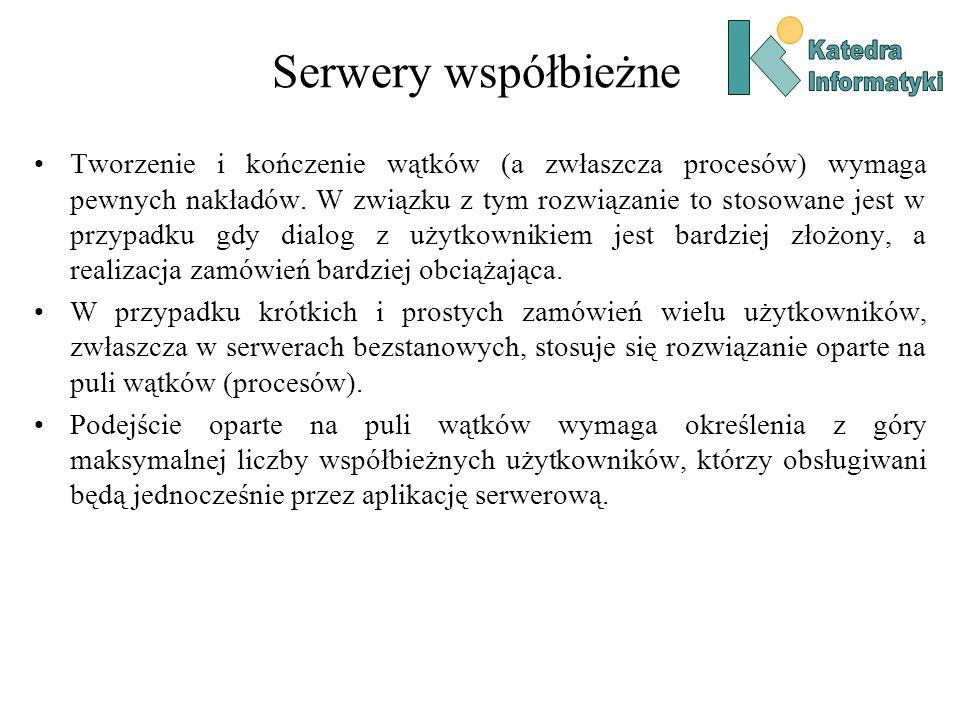Serwery współbieżne Katedra. Informatyki.