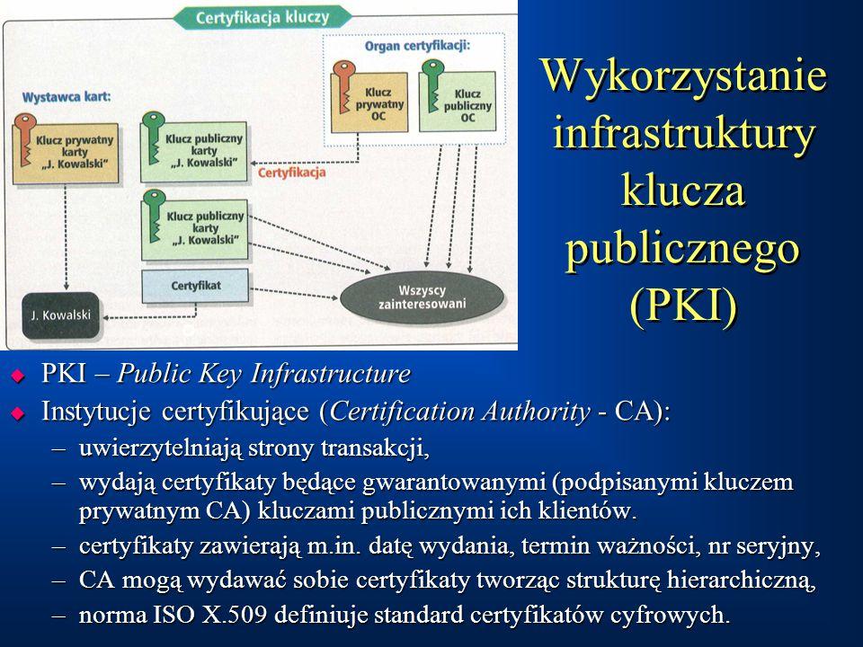 Wykorzystanie infrastruktury klucza publicznego (PKI)