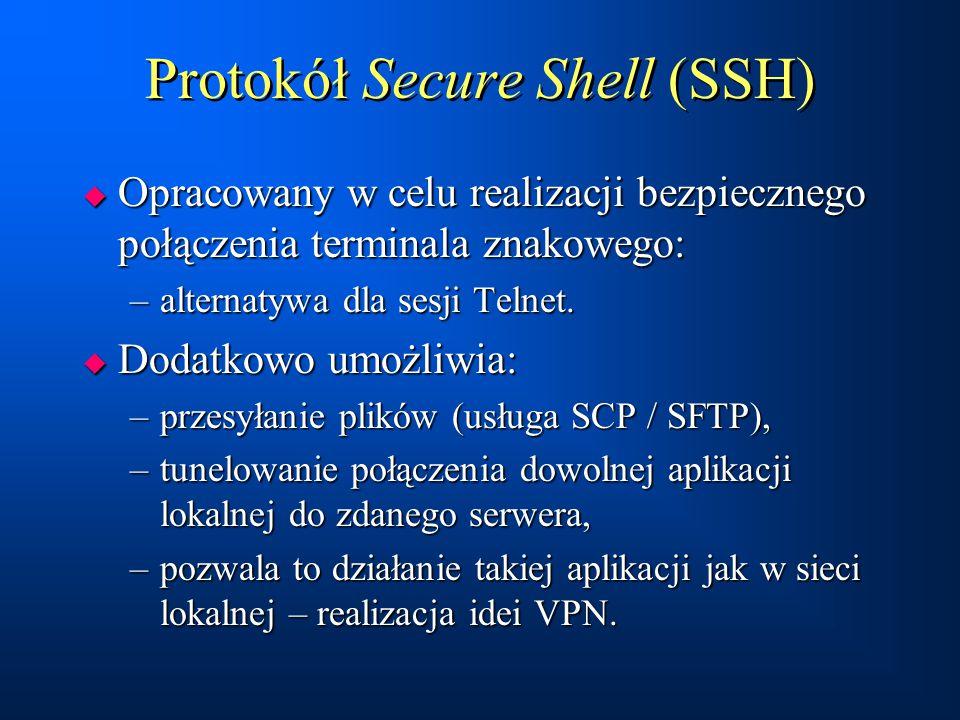 Protokół Secure Shell (SSH)