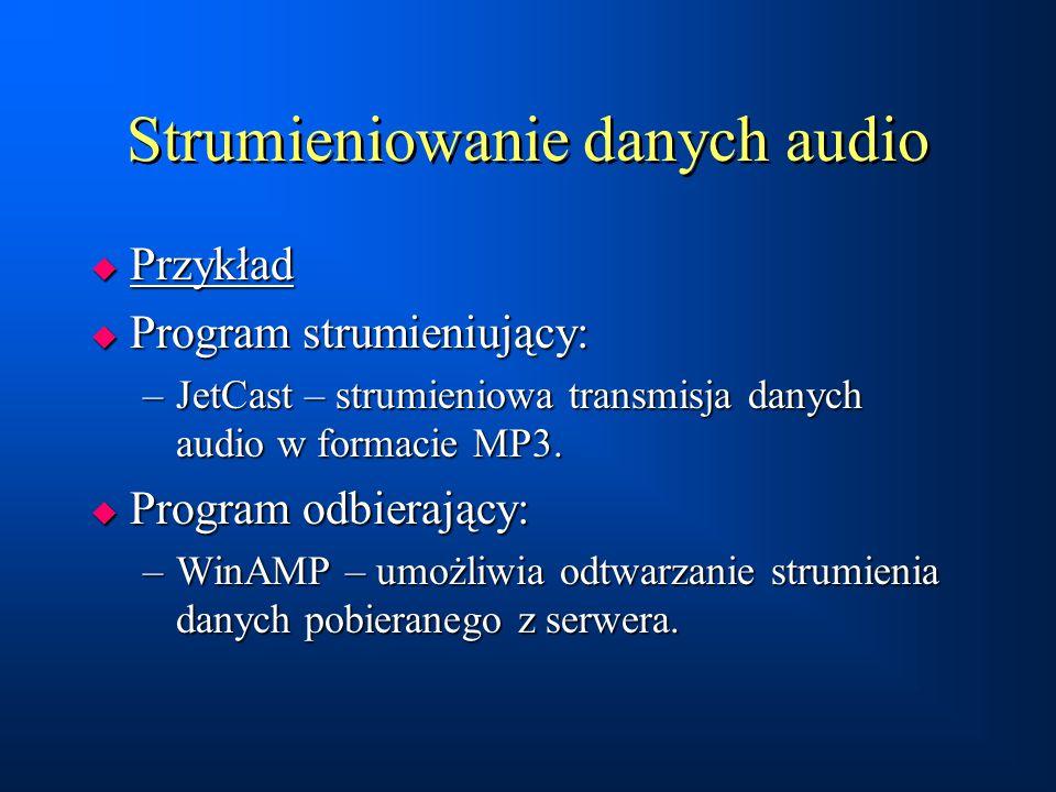 Strumieniowanie danych audio
