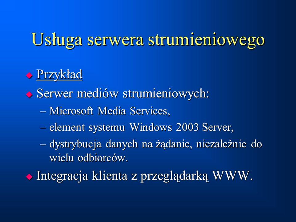 Usługa serwera strumieniowego