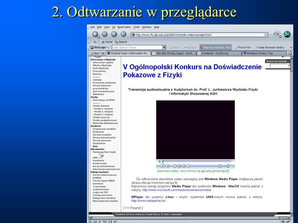 2. Odtwarzanie w przeglądarce